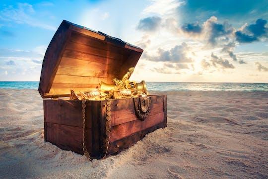 Caça ao tesouro privada para crianças na lagoa de Bora Bora