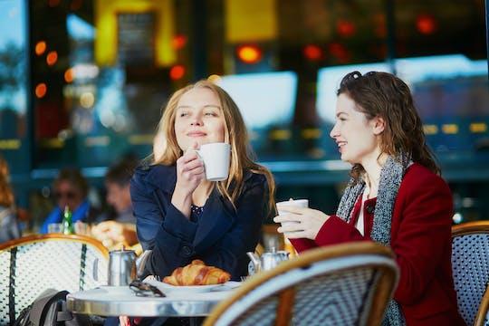 Conversa em francês e café no Cafe de Flore