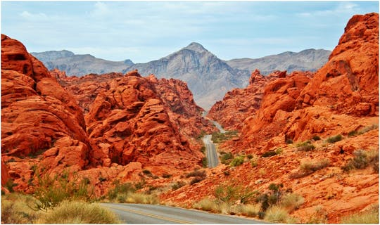 Valley of Fire and Lost City Museum small group tour