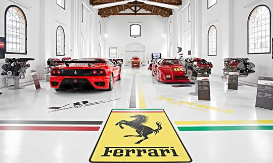 Ferrari museums and factory private tour