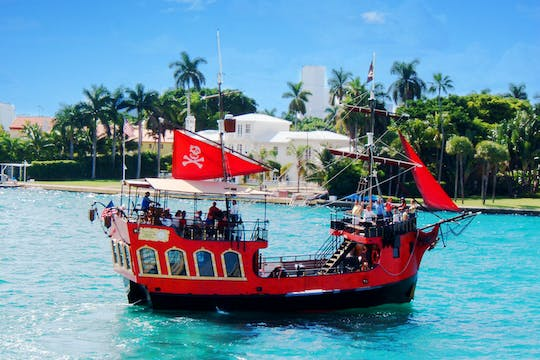 Pirate adventure on a sightseeing boat tour in Miami