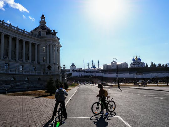 Tour privado de la ciudad de Kazán en bicicleta