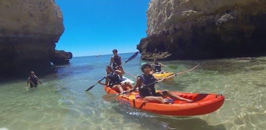 Kajaktocht door de grotten van de Algarve en wilde stranden