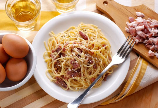 "Advanced online masterclass on Carbonara, Amatriciana, Pesto and pasta ""al dente"""