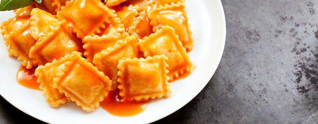 Masterclass on-line avançados em 3 variações de ravioli com molho de tomate