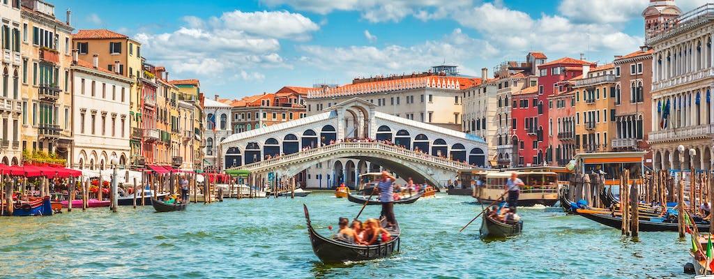 Passeio privado a pé por Veneza com passeio de gôndola