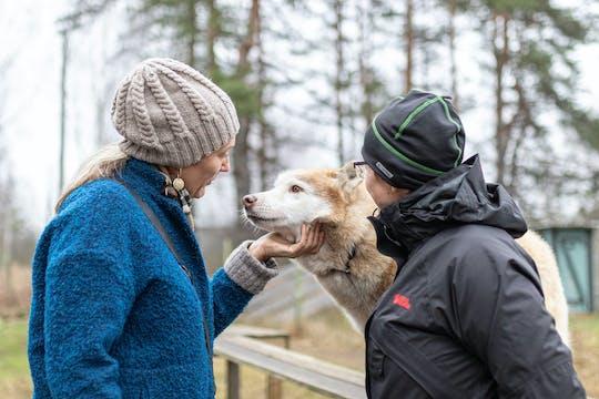 Excursão privada ao parque Husky com caminhada