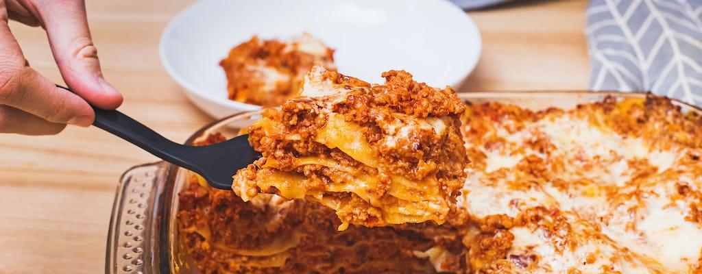 Online-Meisterkurs über italienische Lasagne von Grund auf neu