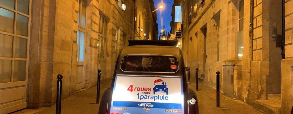 Excursão particular a Bordeaux à noite em um Citroën 2CV Vintage
