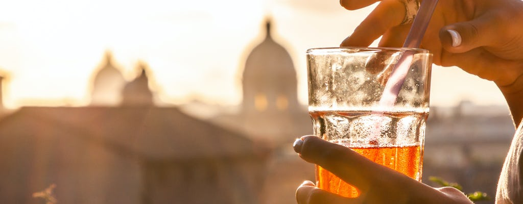Evening golf cart tour of Rome with aperitivo