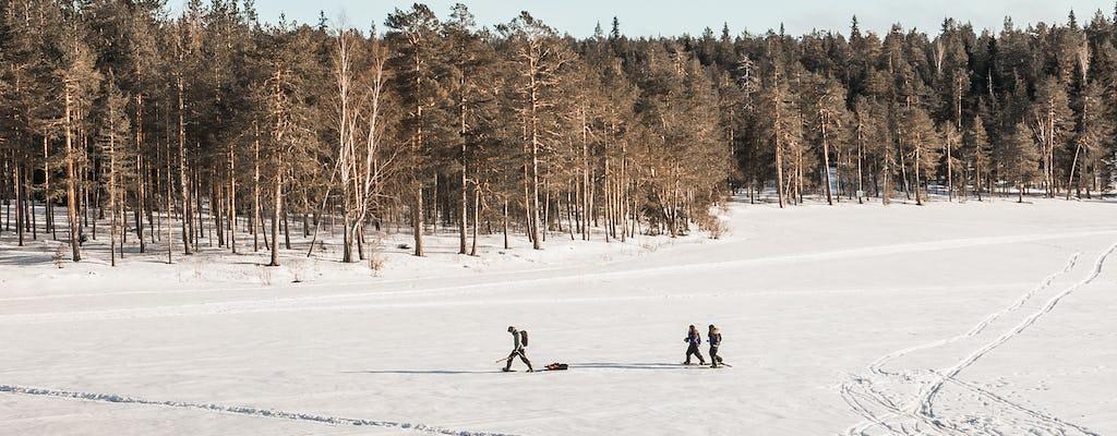 Прогулки на снегоступах и подледная рыбалка комбо тур