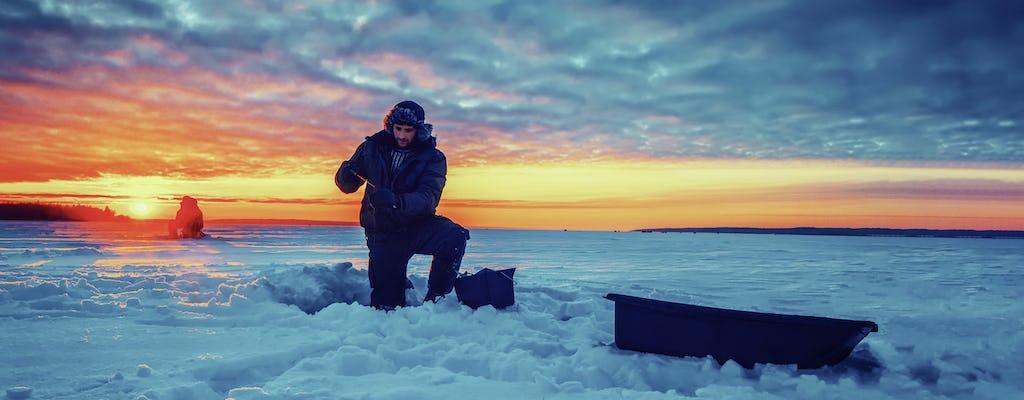Un día en hielo en el congelado río Tornio