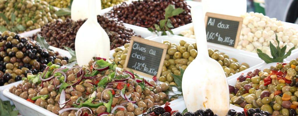 Visite gastronomique du marché de St Tropez et dégustation de vins