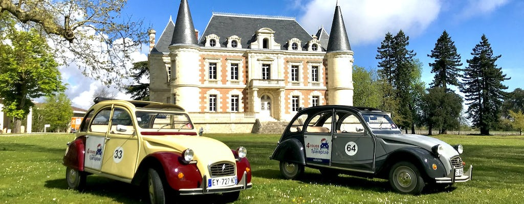 Private Médoc wine tour in a 2CV vintage car from Bordeaux