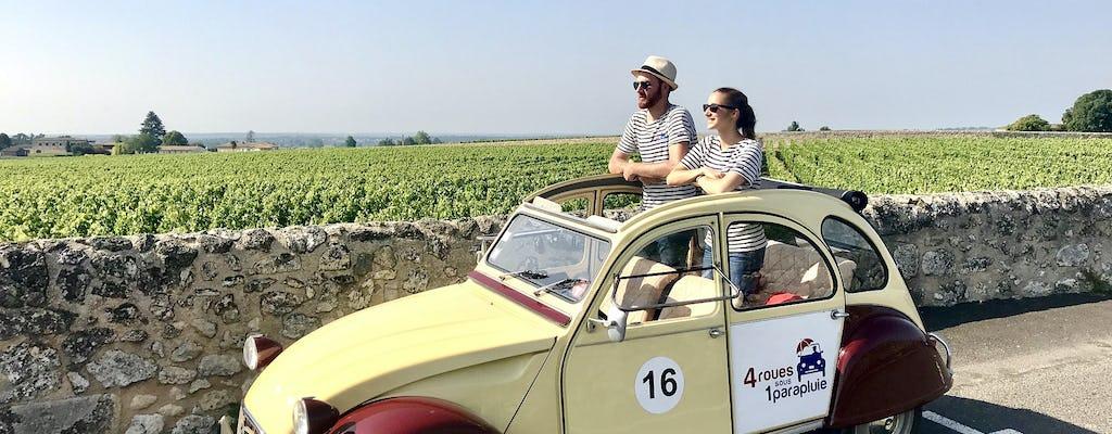 Excursão privada ao vinho de Saint-Emilion em um carro antigo de 2 CV de Bordeaux