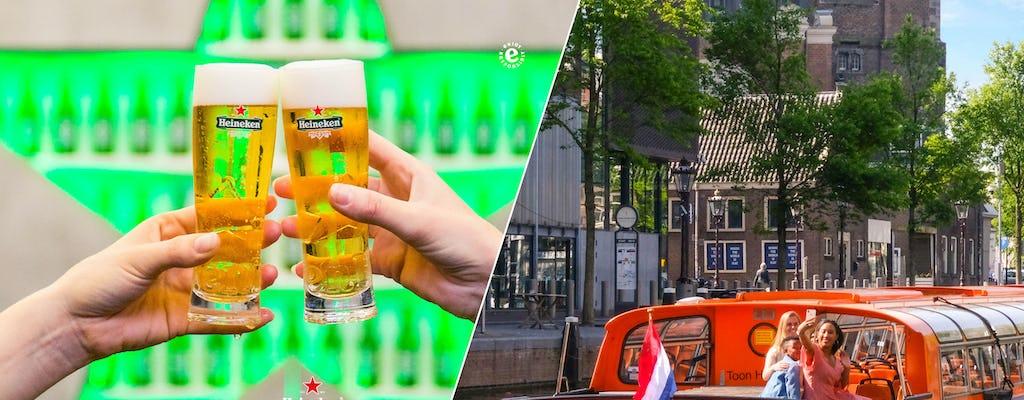 Experiencia Heineken y crucero por el canal de 1 hora en Amsterdam