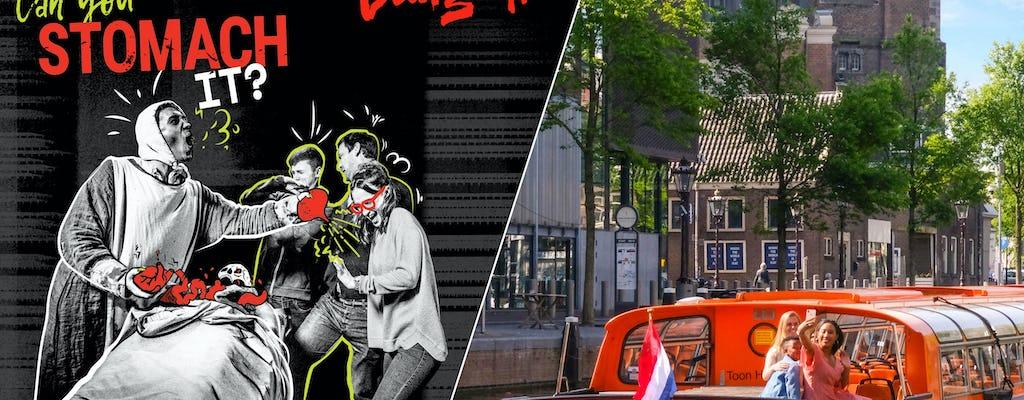 Amsterdam Dungeon Tickets und einstündige Grachtenfahrt