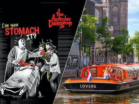 Entreeticket voor Amsterdam Dungeon en een 1 uur durende rondvaart