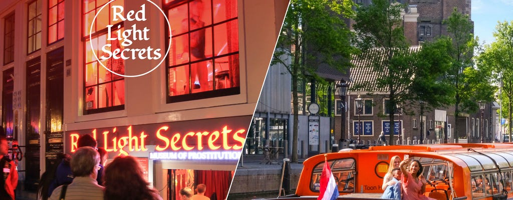 Biglietto d'ingresso al museo Red Light Secrets e crociera di un'ora sui canali ad Amsterdam