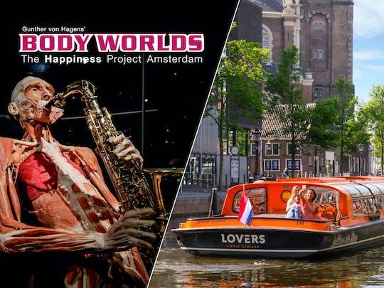 Biglietti salta fila per il Body Worlds e crociera di un'ora sui canali di Amsterdam