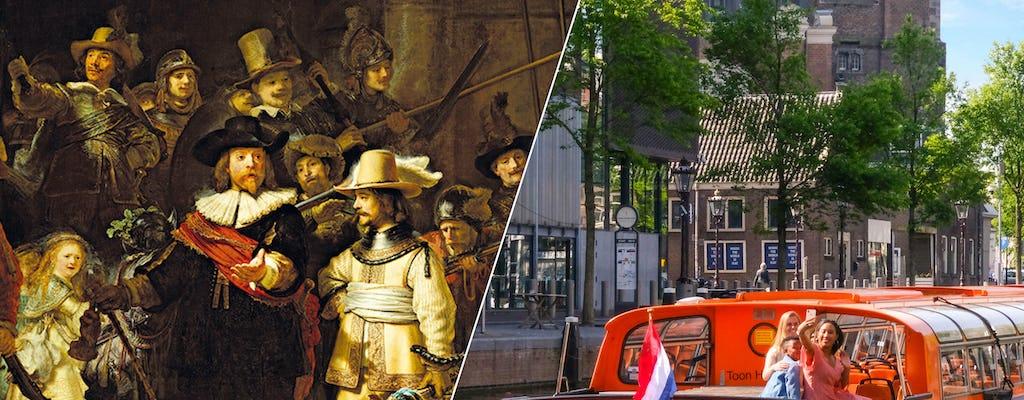 Entrada sem fila para o Rijksmuseum e cruzeiro pelos canais
