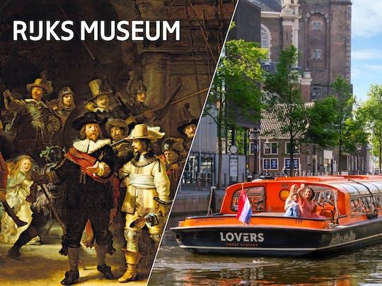 Bilet priorytetowego wstępu do Rijksmuseum i rejs po kanałach Amsterdamu