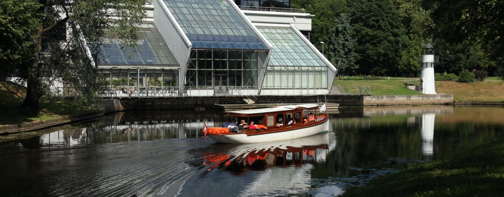 Riga sightseeing canal boat tour