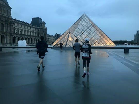 Бег экскурсия ночной Париж