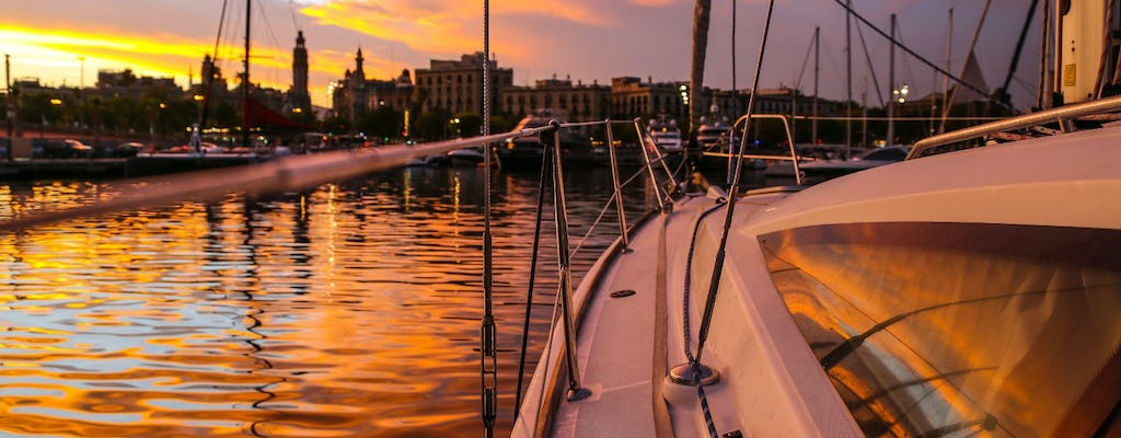 Sunset sailing experience in Barcelona