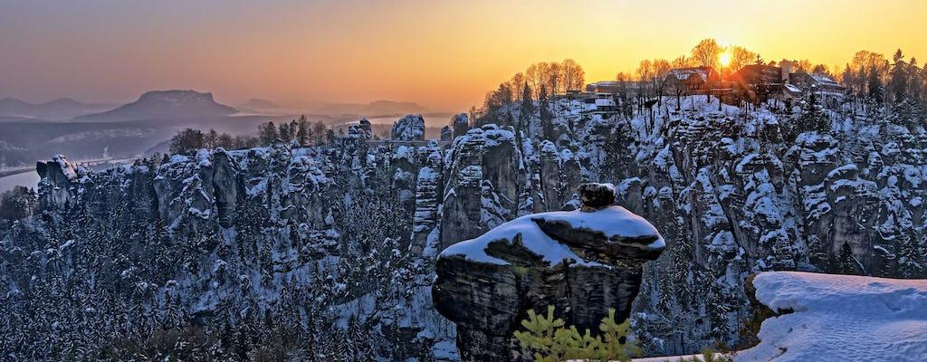 Excursión de un día a lo mejor de Suiza bohemia y sajona desde el tour de invierno de Praga