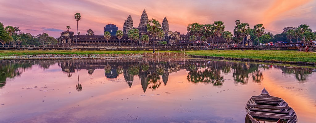 Classic sunset shared tour of Angkor Wat
