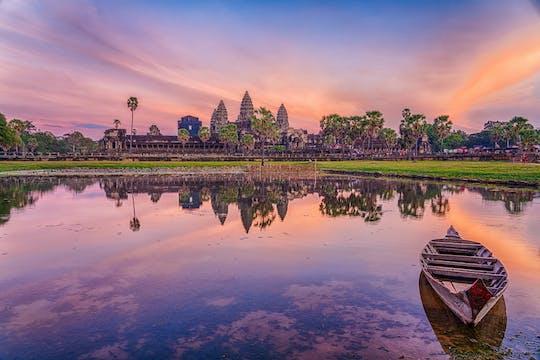 Tour clásico al atardecer compartido de Angkor Wat