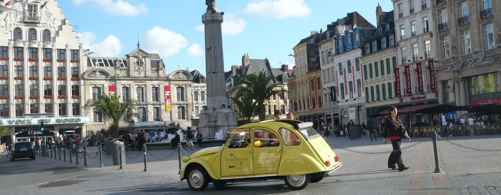 Lille guided tour by Citroen 2CV with Champagne Break