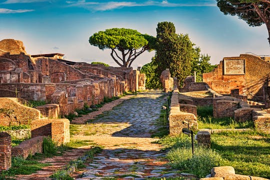 Antike Ostia Wanderung