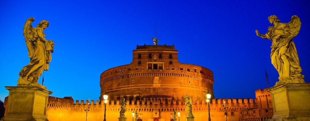 Prywatna wycieczka rowerowa po Rzymie nocą z kolacją z pizzą