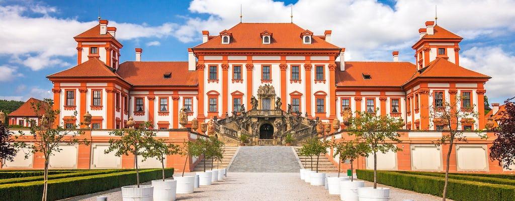 Прага тур речной велосипед в Тройский замок
