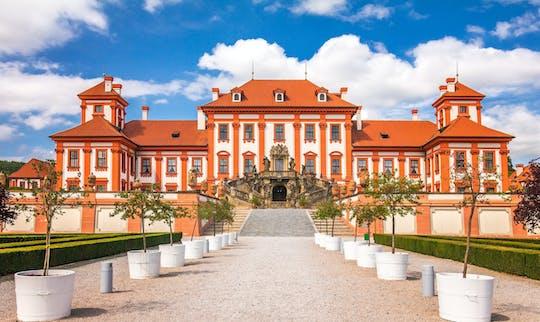 Prague river bike tour to Troja Chateau