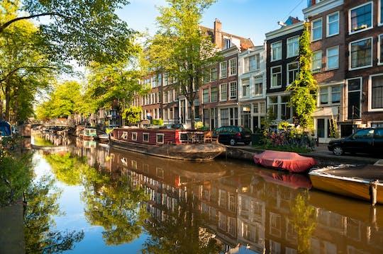 Historyczna wycieczka łodzią po małych kanałach w Amsterdamie