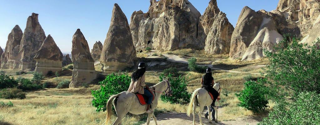 Sunset horse riding through Cappadocia's valleys and fairy chimneys