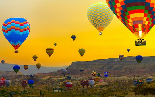 Hot air balloon flight over Cappadocia