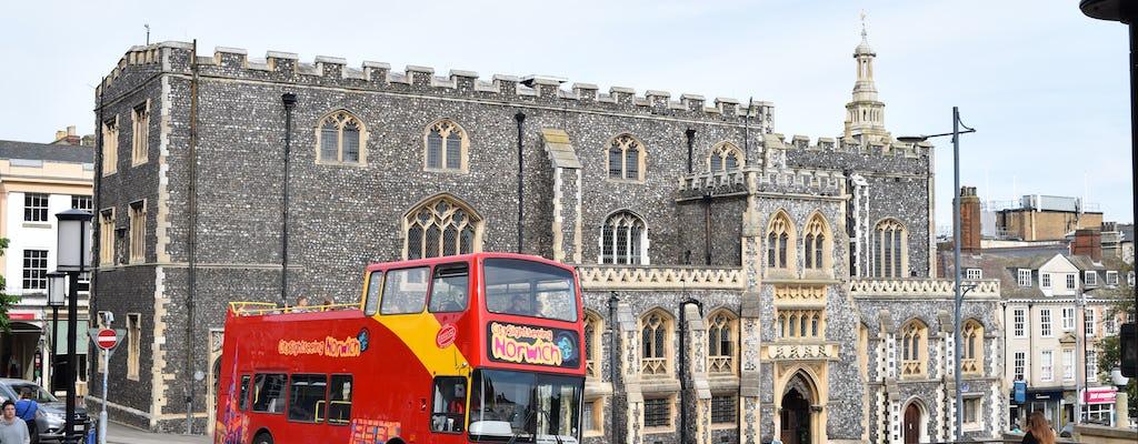 Hop-on hop-off bus tour of Norwich