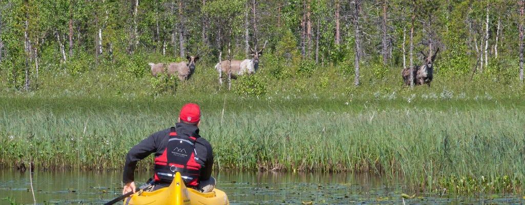 Visitez une authentique ferme de rennes avec une excursion en canoë