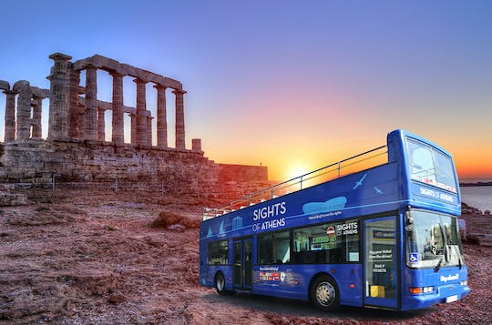 Athens combo hop-on hop-off bus and Cape Sounion sunset tour