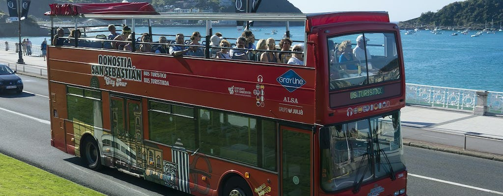 San Sebastian city tour hop-on hop-off bus tickets