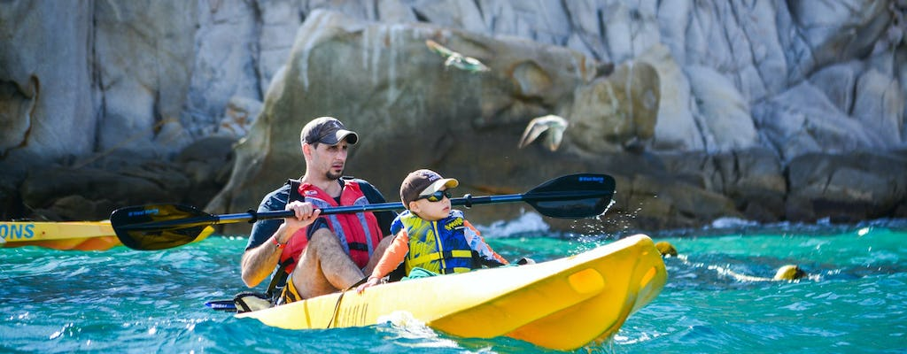Los Cabos' Arch and Playa del Amor kayak and snorkeling private tour