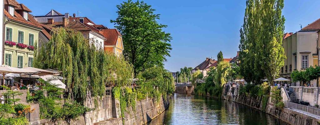 Visite de la ville et croisière en bateau le long de la Ljubljanica