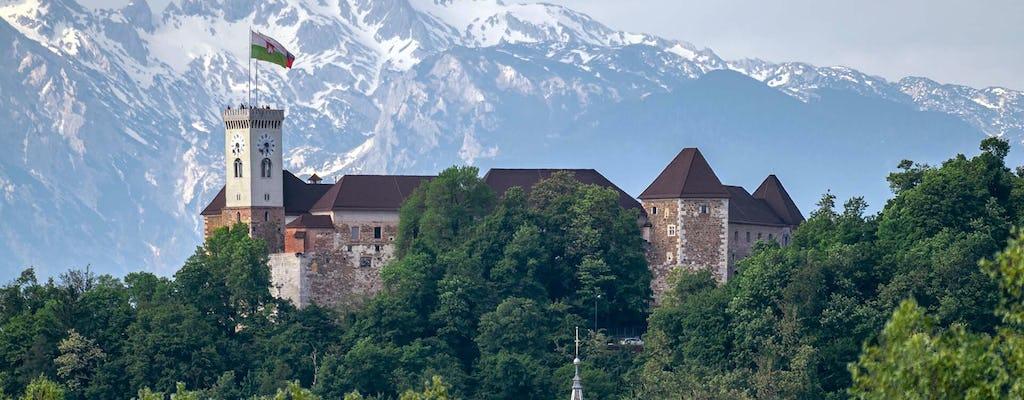 Visita guiada privada ao antigo centro da cidade e ao Castelo de Liubliana