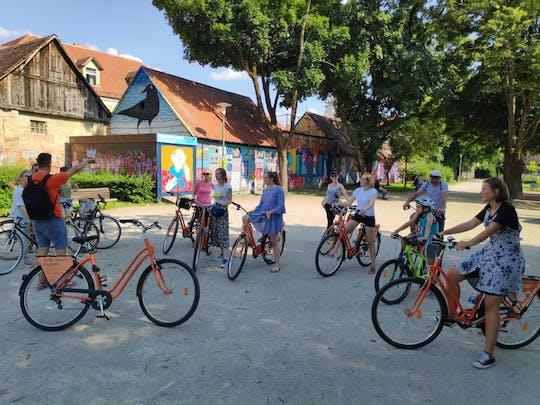 La città di Zagabria mette in evidenza il tour in bici