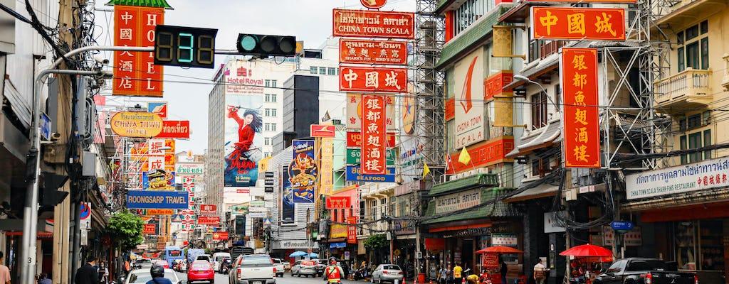 Juego de exploración de tesoros del barrio chino y gira en Bangkok