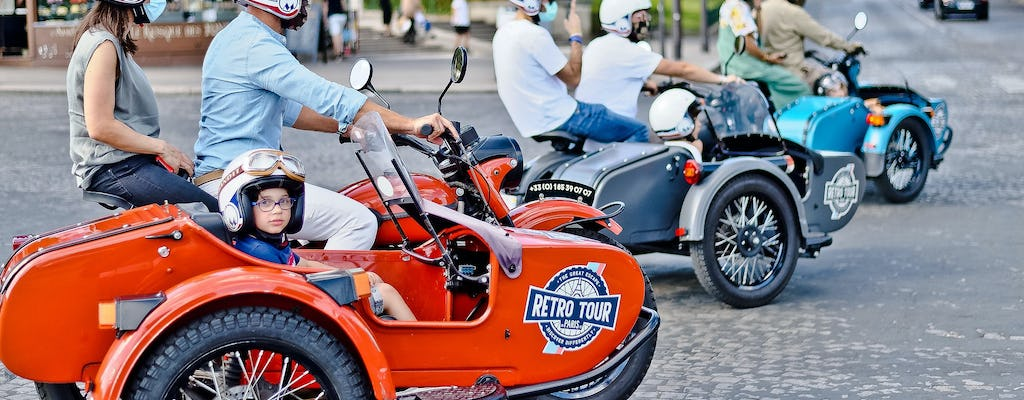 Customized private tour of Paris in sidecar motorcycle